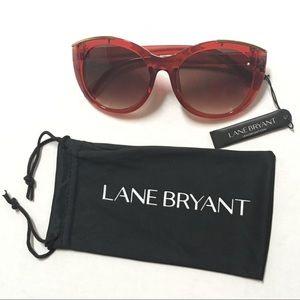 🌷 Lane Bryant Amber rhinestone & gold sunglasses